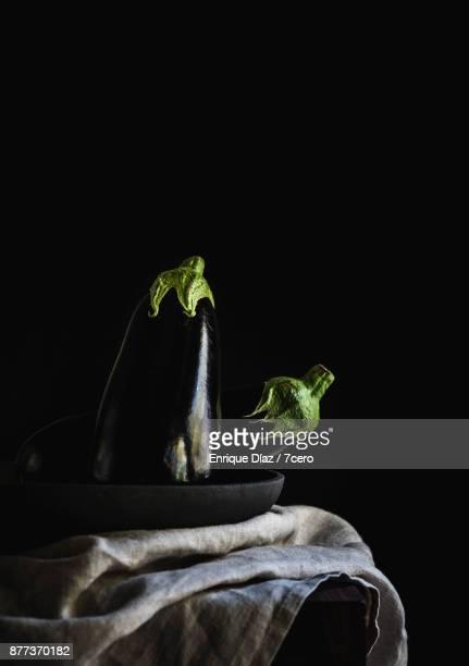 Eggplant Still Life in Bowl