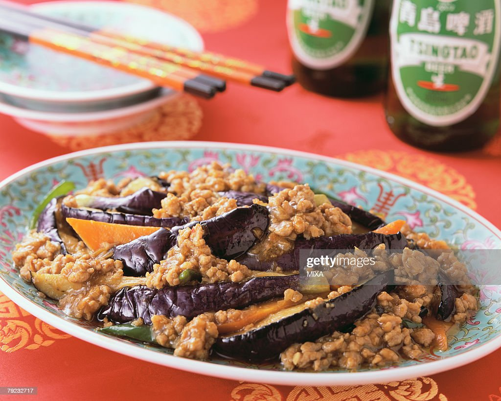 Eggplant with Minced Meat : Stock Photo