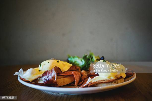 Eggs Benedict On Plate