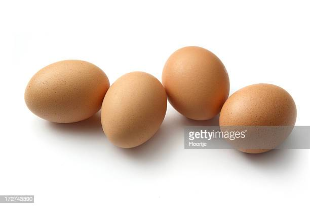 Eggs: Brown Eggs Isolated on White Background