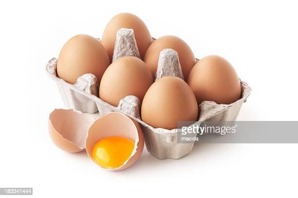 Eier in Kartonverpackung
