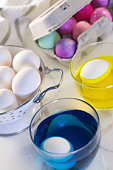 Eggs in coloring