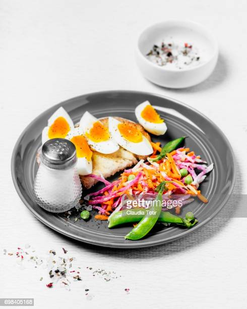 Eggs with salad
