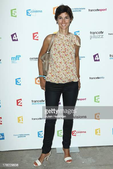 Eglantine Emeye attends 'La Rentree France Televisions' at Palais De Tokyo on August 27 2013 in Paris France