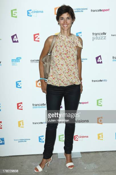 Eglantine Emeye attends 'La Rentree France Televisions' at Palais De Tokyo on August 27 2013 in Paris France