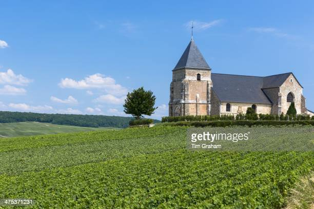 Eglise de Chavot 12th Century Church of Chavot on Tourist Route of Champagne in Marne ChampagneArdenne region France
