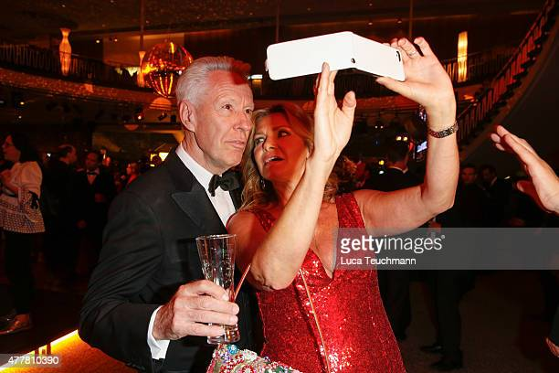 Egon F Freiheit and Maren Gilzer attend the German Film Award 2015 Lola party at Palais am Funkturm on June 19 2015 in Berlin Germany