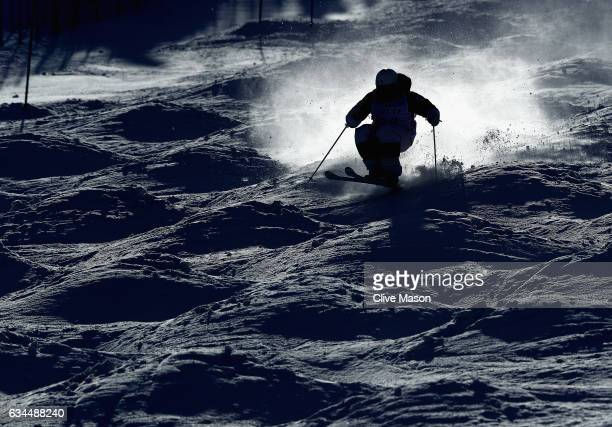 Egor Anufriev of Russia in action during Mens Moguls training at the FIS Freestyle Ski World Cup 2016/17 Aerials at Bokwang Snow Park on February 10...