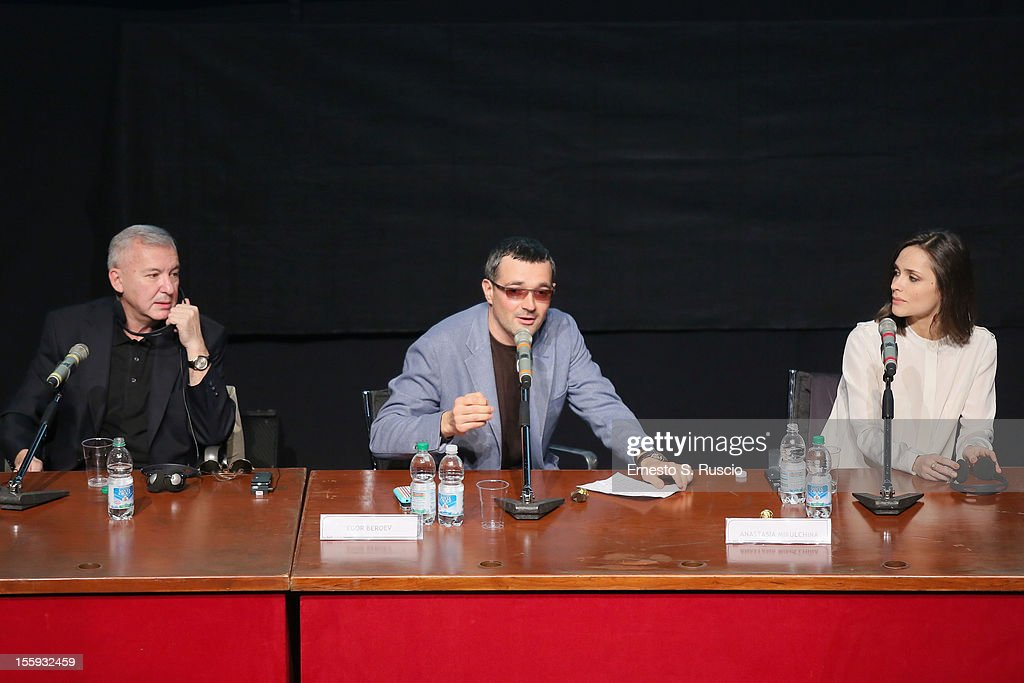 Egor Beroev, Anastasia Mikulchina attend 'Waiting For The Sea' Press Conference during The 7th Rome Film Festival at Sala Petrassi on November 9, 2012 in Rome, Italy.