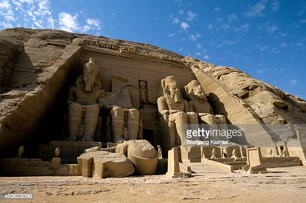 Egypt Abu Simbel Great Temple Of Abu Simbel Four Statues Of Ramses Ii