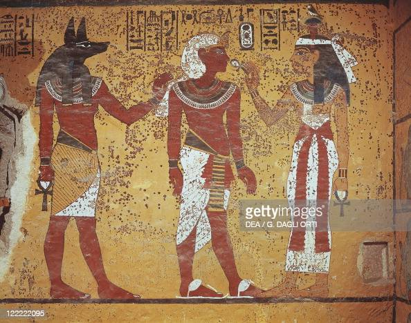 Egypt thebes luxor valley of the kings tomb of for Ancient egyptian mural