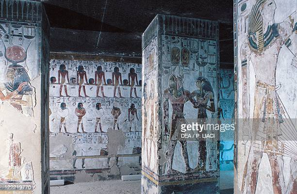 Egypt Ancient Thebes Valley of the Kings Luxor Access to the tomb of Seti I New Kingdom XIXth Dynasty circa 12901279 bC Discovered by Giovanni...