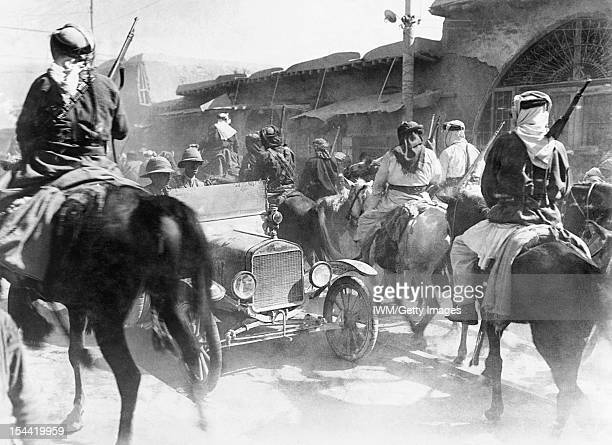 Egypt And Palestine 1914 1918 Mounted Sharifan irregulars riding through the dusty streets of Damascus soon after the capture of the city in October...