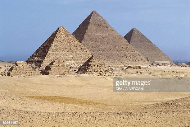 Egypt Cairo Ancient Memphis Pyramids at Giza