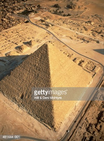 Egypt, Cairo, Giza Pyramids, Cheops (or Great Pyramid), aerial view