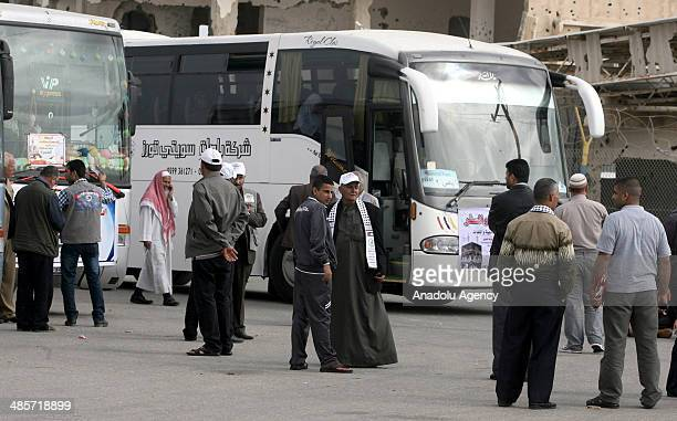 Egypt governance informs that Rafah Border Gate opened for two days for umrah visitors in Gaza city Gaza on April 20 2014