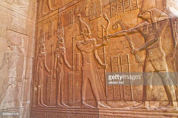 Egypt hieroglyphics at Temple Kom Ombo near by Assuan