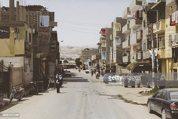 Egypt, Hurghada, street with multi-family houses