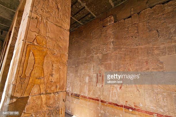 Egypt Luxor Deir elBahri Mortuary Temple of Hatshepsut hieroglyphics
