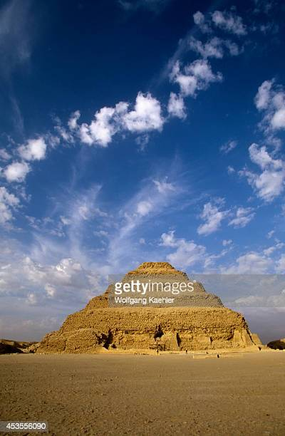 Egypt Near Cairo Sakkara Step Pyramid Oldest Stone Structure In The World 2686 Bc