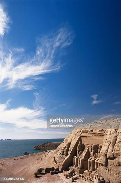 Egypt, Nubia, Abu Simbel, Great Temple of Rameses II and Lake Nasser
