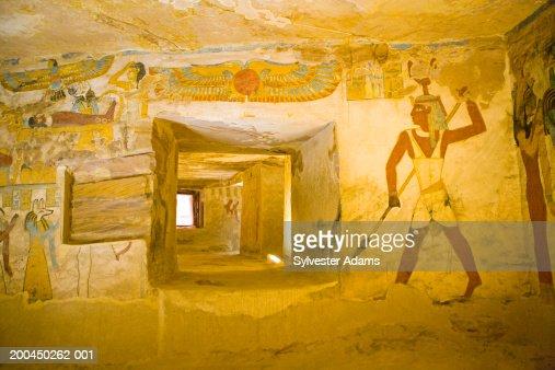 Egypt, Oasis of Bahariya, Bannentiu tomb and frescoes, 26th Dynasty