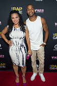 Egypt Sherrod and DJ Fadelf attend the private screening of Lifetime's 'The Rap Game' at Suite Food Lounge on July 22 2016 in Atlanta Georgia
