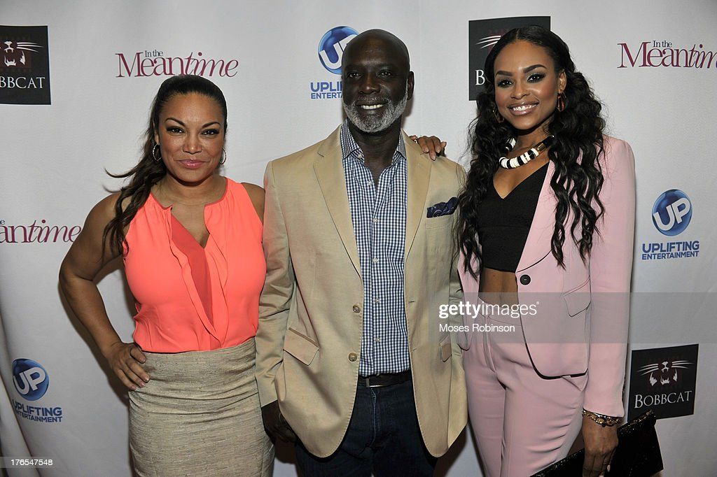 Egypt Sherrod, Peter Thomas and <a gi-track='captionPersonalityLinkClicked' href=/galleries/search?phrase=Demetria+McKinney&family=editorial&specificpeople=5483441 ng-click='$event.stopPropagation()'>Demetria McKinney</a> attend the premiere of 'In the Meantime' at the Woodruff Arts Center on August 14, 2013 in Atlanta, Georgia.