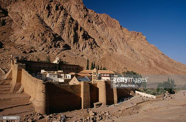 Egypt Sinai St Catherine's Monastery St Catherine's Greek Orthodox Monastery on Mount Sinai dating from 337 AD