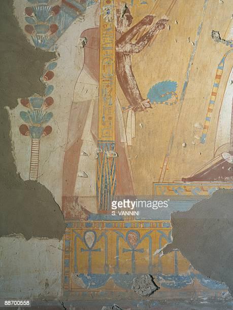 Egypt Thebes Luxor Sheikh 'Abd ElQurna Tomb of Horemhab Fresco detail