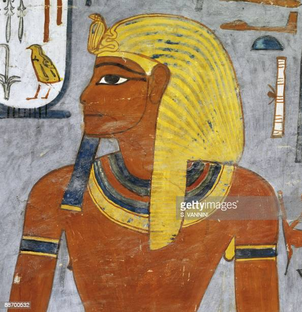 Closeup of pharaoh stock photos and pictures getty images for Egypt mural painting