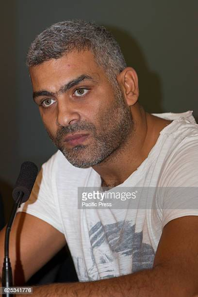 Egyptian actor and musician Hany Adel press conference at Torino Film Festival in Italy