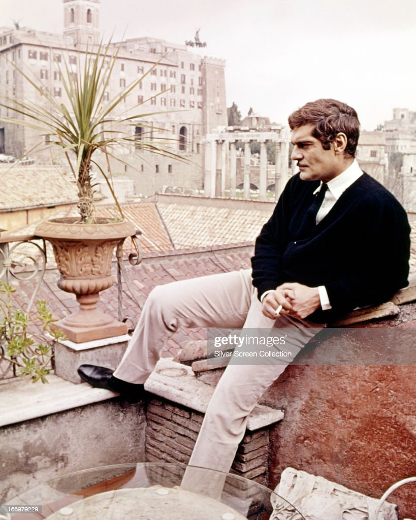 Egyptian actor Omar Sharif as Federico Fendi in a publicity still for 'The Appointment', directed by Sidney Lumet, 1969.