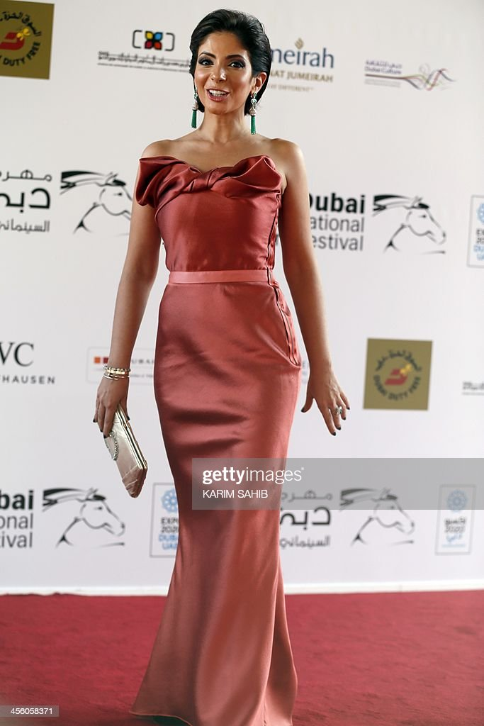 Egyptian actress Mona Zaki attends the closing ceremony of the 10th Annual Dubai International Film Festival in the Gulf emirate of Dubai on December 13, 2013. AFP PHOTO / KARIM SAHIB
