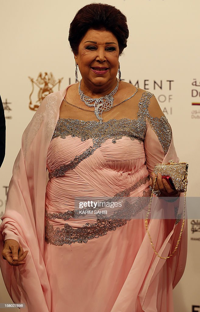 Egyptian actress Raja al-Jadawi attends the opening ceremony of the Dubai International Film Festival in the Gulf emirate of Dubai on December 9, 2012.