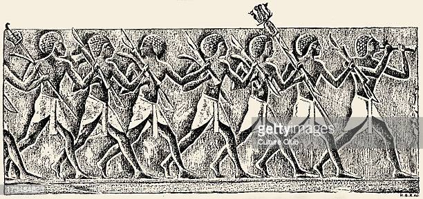 Egyptian archers at Deir elBahari