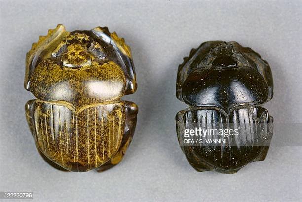 Egyptian civilization Late Period Dynasty XXVI Scarabs From Bahariya Oasis Sheik Souby Governor's Tomb Tomb of Nassa