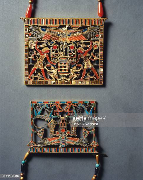 Egyptian civilization Middle Kingdom Dynasty XII Gold pectoral of Mereret 18781798 bC From Dahshur