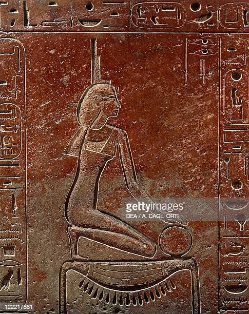 Egyptian civilization New Kingdom Dynasty XVIII Sarcophagus of Queen Hatshepsut From the Valley of the Kings Egypt Detail