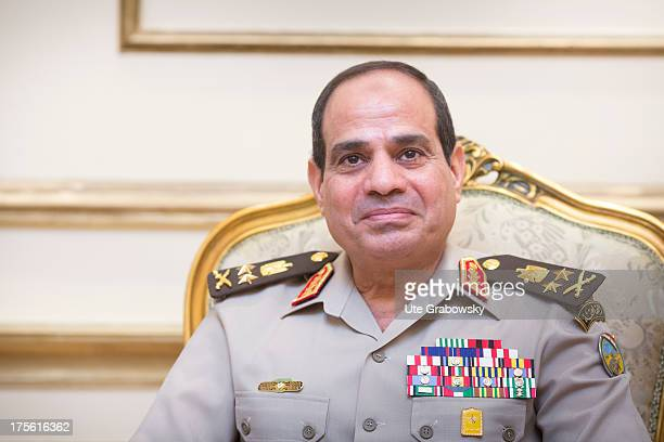 Egyptian Defense Minister and Vice Prime Minister General Abdel Fattah alSisi on August 01 2013 in Cairo Egypt