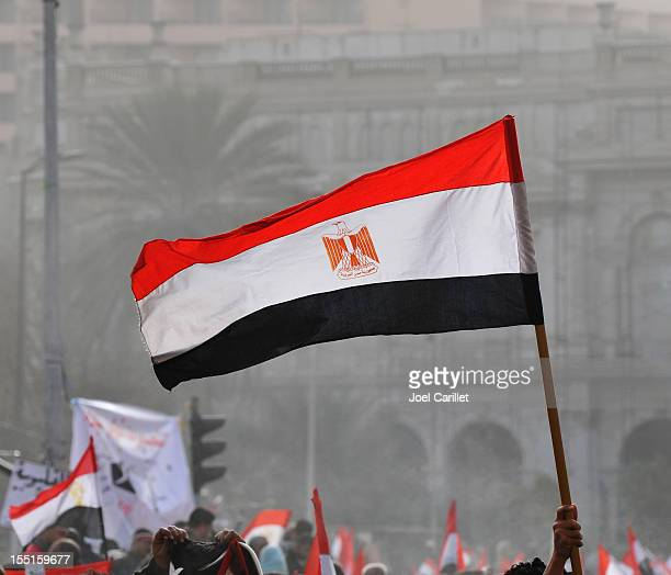 Egyptian flag in Tahrir Square