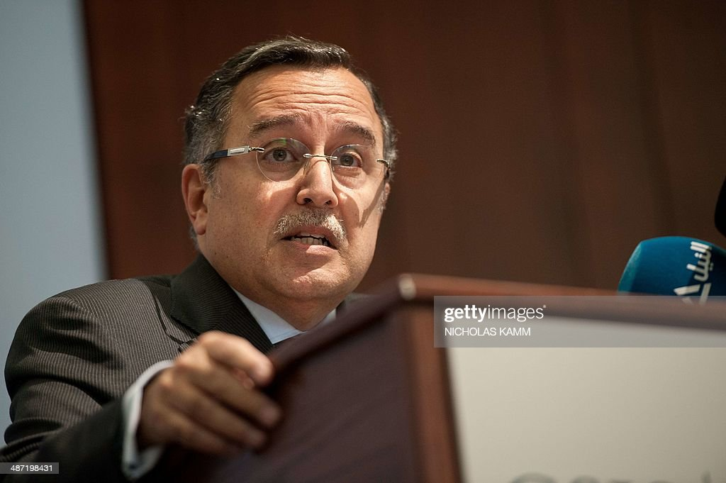 Egyptian Foreign Minister <b>Nabil Fahmy</b> addresses the Center for Strategic and <b>...</b> - egyptian-foreign-minister-nabil-fahmy-addresses-the-center-for-and-picture-id487198431