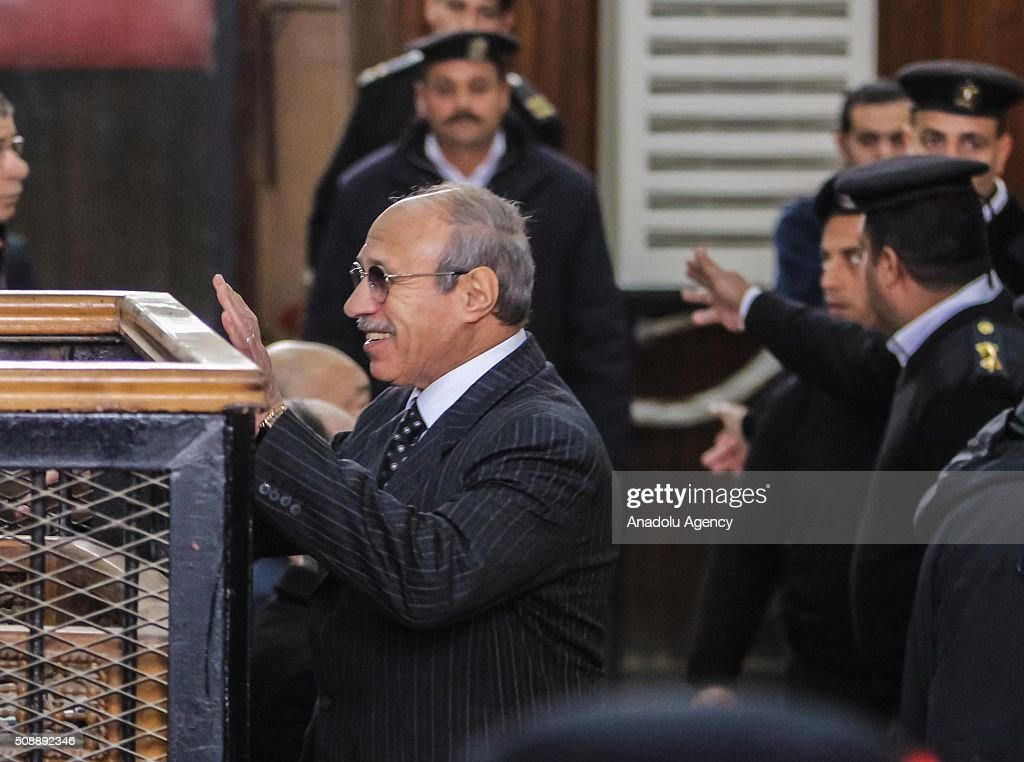 Egyptian former interior minister Habib al-Adly is seen at Police Academy for his trial on the charges of corruption, in Cairo, Egypt on February 7, 2016. Habib al-Adly served as interior minister of Egypt from 1997 to 2011, he was the longest serving interior minister under President Hosni Mubarak.