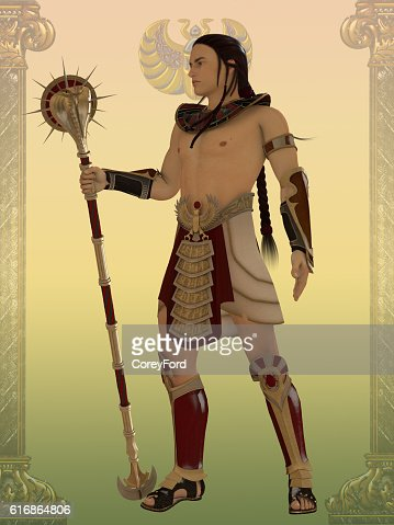 Egyptian Guard : Stock Photo