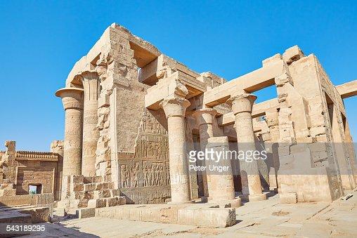 Egyptian hieroglyphics at Temple of Kom Ombo