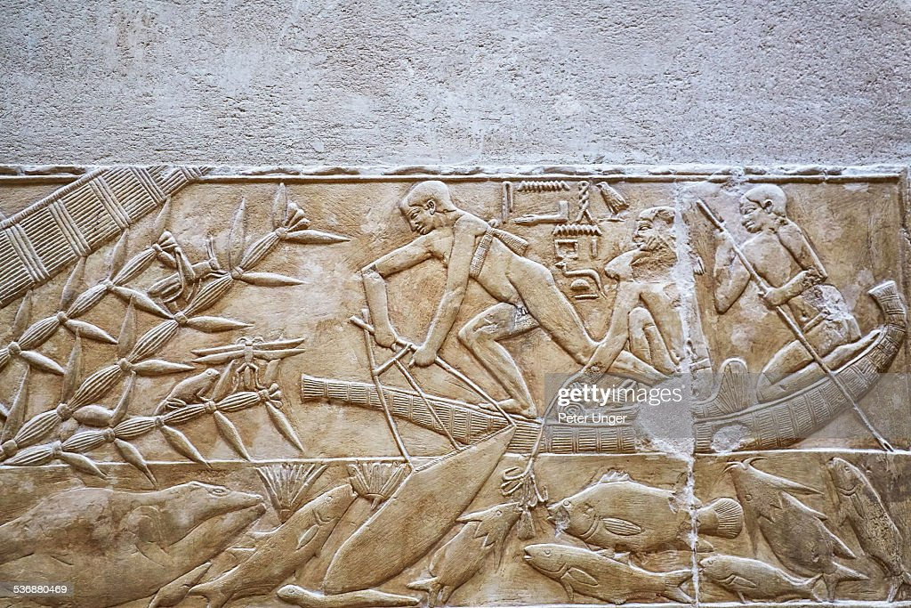 Egyptian hieroglyphics, close-up