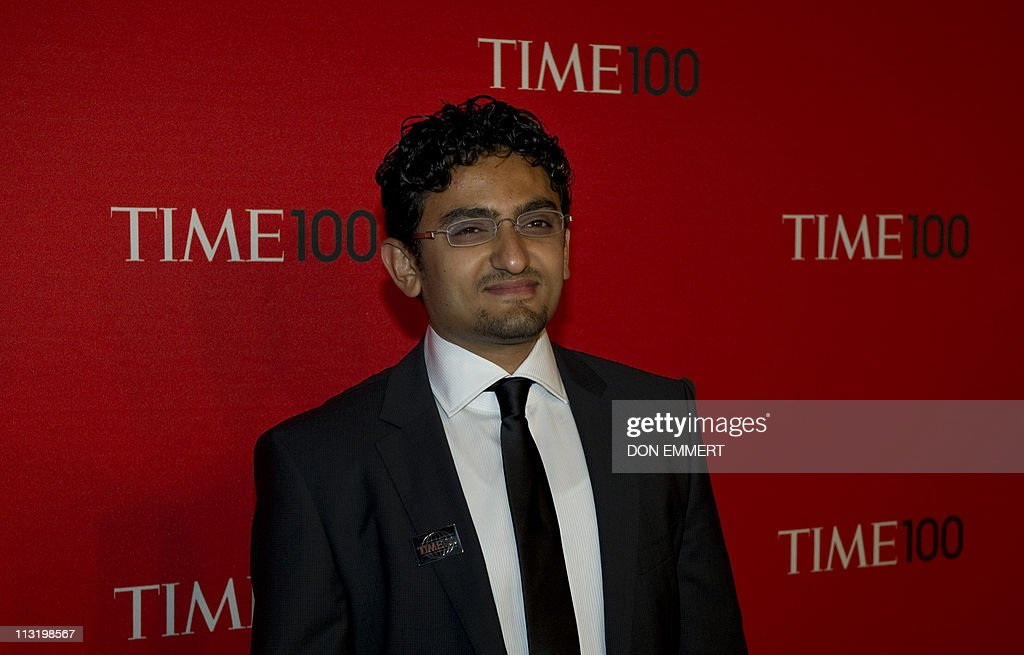Egyptian internet activist Wael Ghonim arrives at the Time Magazine 'World's 100 Most Influential People' gala April 26, 2011 in New York.