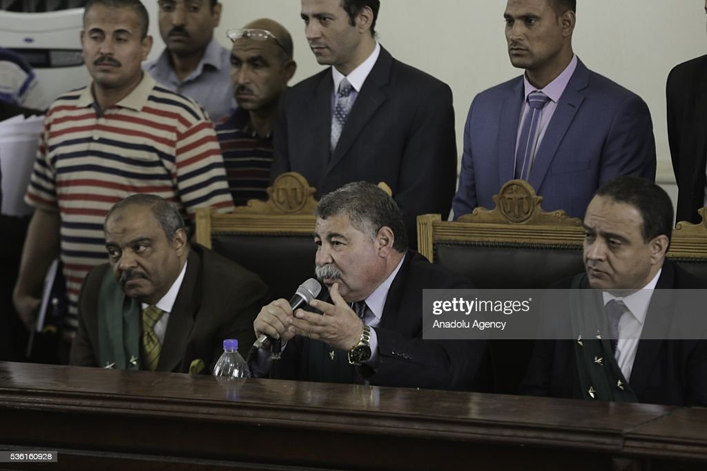 Egyptian judge Hassan Farid conducts the trials of Muslim Brotherhood members at the Police Academy in the capital Cairo, Egypt on May 31, 2016.