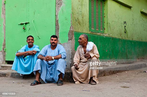 Egyptian men on street corner in Luxor
