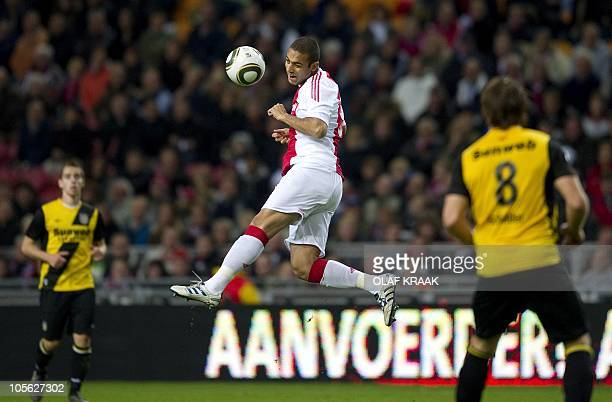 Egyptian Mido of Ajax makes his debute in the Dutch Eredivisie match against NAC Breda in the Amsterdam ArenA on October 16 2010 Ajax won the match...